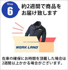 Step6 約2週間で商品をお届け致します 在庫の確保にお時間を頂戴した場合は2週間以上かかる場合がございます。
